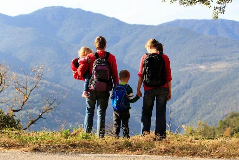 Família curtindo viagem na Argentina