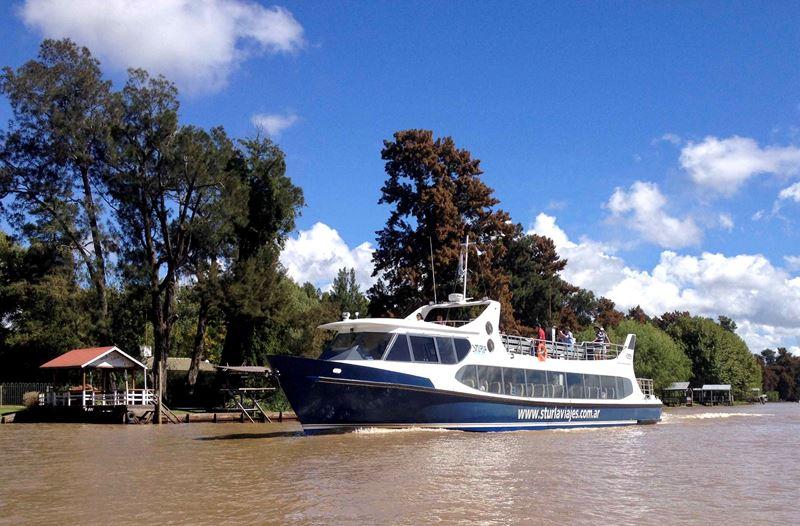 Passeio de barco no Rio Tigre
