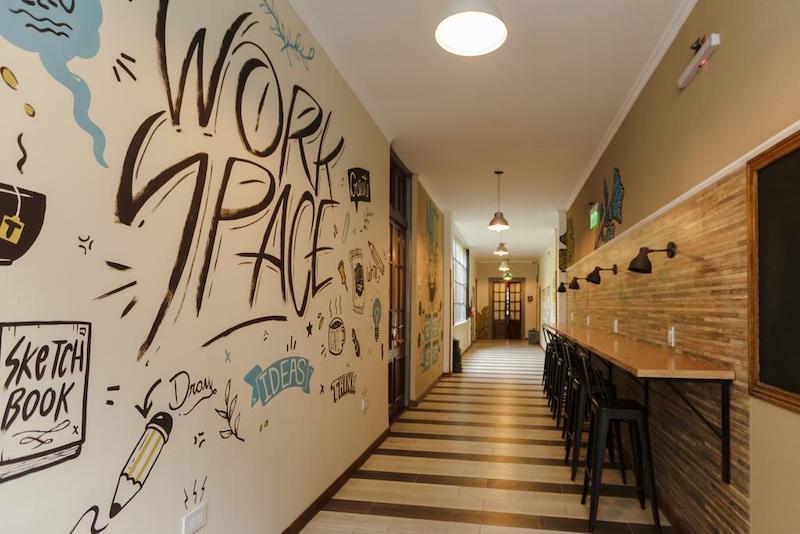 Work Space no Hostel Che Juan BA em Buenos Aires